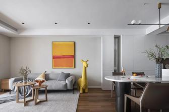 富裕型80平米三室一厅现代简约风格客厅图片