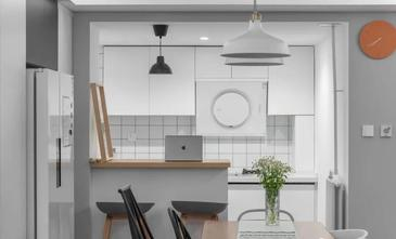 10-15万100平米三室两厅北欧风格厨房欣赏图