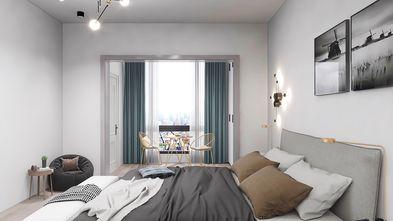 130平米复式现代简约风格卧室效果图