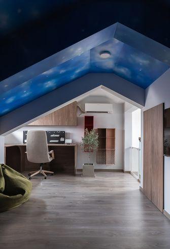 20万以上140平米复式现代简约风格阁楼装修图片大全