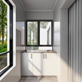 120平米三室两厅轻奢风格阳台图片
