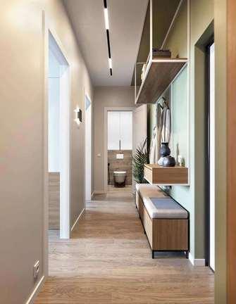 富裕型90平米三室两厅美式风格走廊图片大全