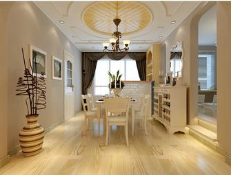 130平米三室三厅欧式风格餐厅装修图片大全