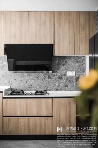 20万以上140平米三室三厅现代简约风格厨房图片大全