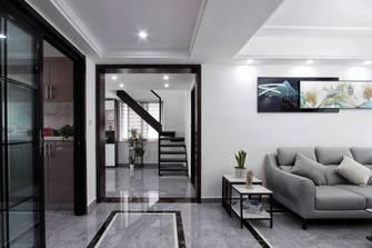 豪华型140平米复式现代简约风格阁楼效果图