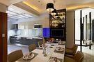 90平米三港式风格客厅装修案例