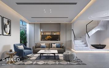 20万以上140平米别墅现代简约风格影音室装修效果图