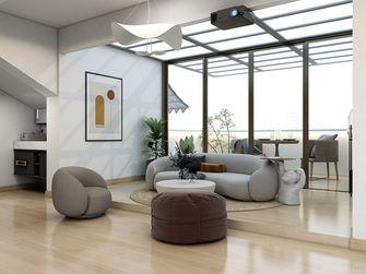 120平米三室三厅现代简约风格客厅图片大全