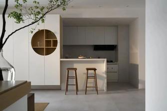 80平米三室一厅混搭风格厨房图
