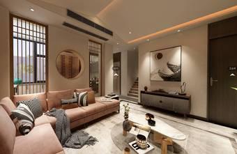140平米别墅日式风格客厅欣赏图