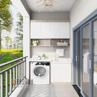 经济型100平米三室两厅现代简约风格阳台图片大全