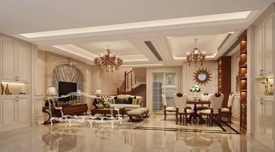 豪华型140平米别墅欧式风格客厅图片大全