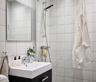 5-10万60平米一室一厅现代简约风格卫生间图