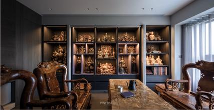 20万以上140平米四混搭风格书房设计图