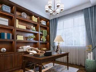 经济型140平米三室两厅美式风格书房装修图片大全