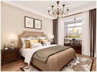 富裕型100平米三室一厅美式风格卧室图
