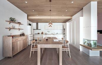 富裕型140平米三室一厅日式风格餐厅图片