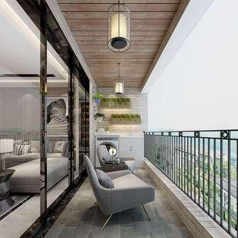 豪华型140平米四现代简约风格阳台装修图片大全