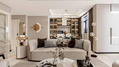 140平米别墅英伦风格客厅图片