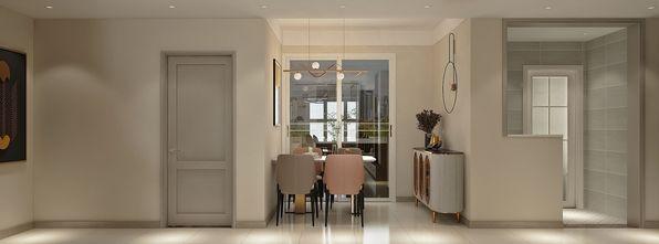 10-15万90平米三室两厅现代简约风格餐厅设计图