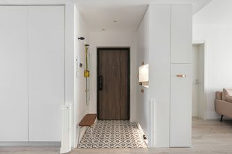 5-10万90平米三室两厅日式风格玄关效果图