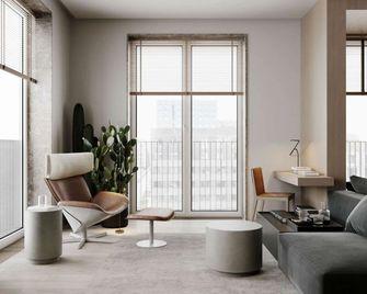 富裕型100平米三室两厅现代简约风格阳台图