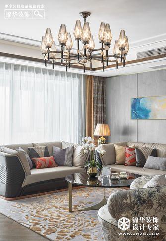 140平米复式轻奢风格客厅装修图片大全