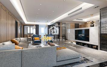 80平米三室两厅轻奢风格客厅装修案例