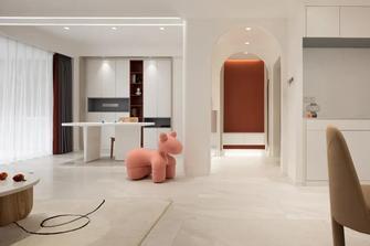 5-10万120平米三室两厅现代简约风格书房装修效果图