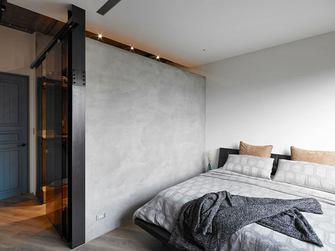 120平米三室两厅工业风风格卧室欣赏图