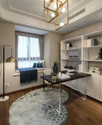 富裕型130平米三室两厅港式风格书房图