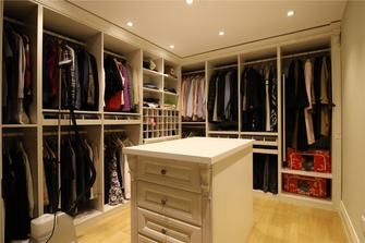 富裕型100平米三室两厅欧式风格衣帽间图