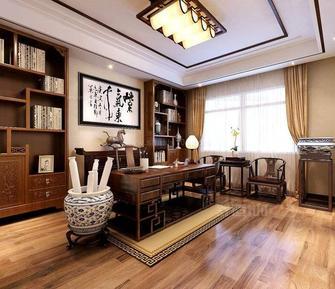 10-15万80平米三室三厅中式风格书房图