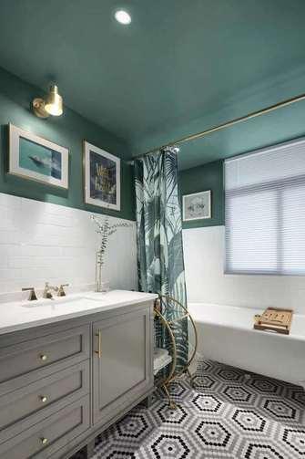 富裕型110平米三室两厅北欧风格卫生间欣赏图