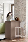 富裕型110平米三室两厅法式风格厨房装修效果图