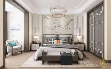 130平米四室四厅中式风格卧室设计图