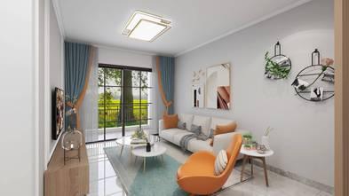 5-10万三室一厅混搭风格客厅装修案例