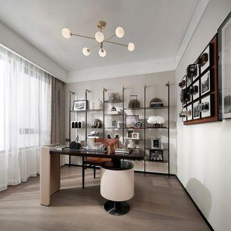 富裕型三室一厅现代简约风格书房装修效果图