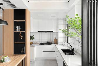 富裕型90平米三室三厅北欧风格厨房欣赏图