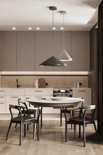 富裕型60平米一居室现代简约风格厨房设计图