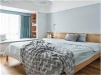 10-15万90平米三室两厅北欧风格卧室欣赏图