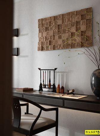 富裕型140平米三室两厅中式风格书房设计图