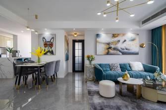 富裕型80平米三室一厅轻奢风格走廊图