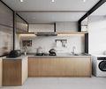 富裕型140平米三室三厅北欧风格厨房欣赏图