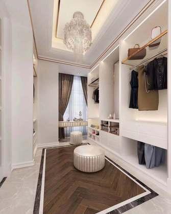100平米三室一厅法式风格衣帽间装修案例