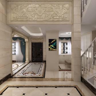 豪华型140平米别墅欧式风格楼梯间装修案例