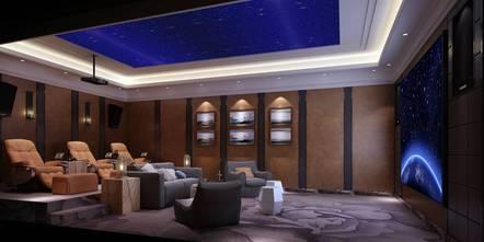 20万以上140平米别墅港式风格影音室图