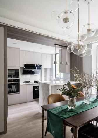 富裕型110平米混搭风格厨房图
