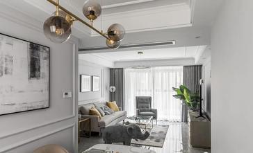 经济型110平米三室一厅美式风格走廊图