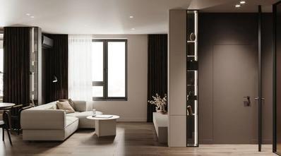 60平米一居室现代简约风格客厅装修图片大全